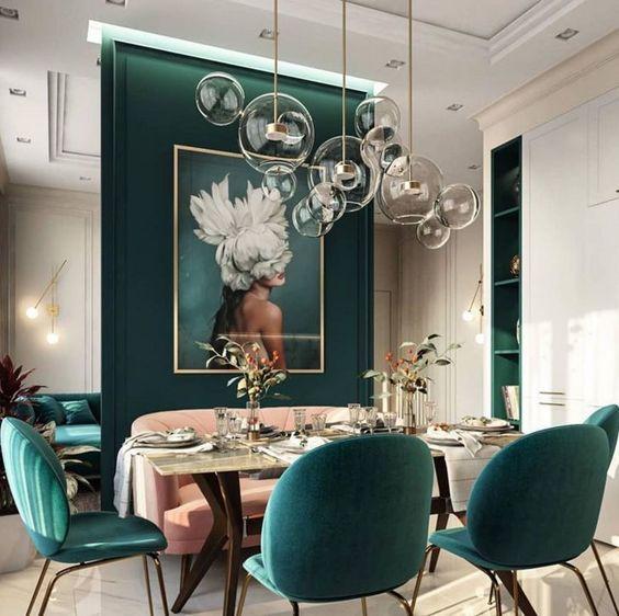 decoración y muebles en verdes 3