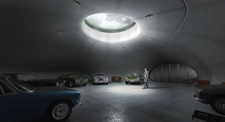 Diseñando la perfecta guarida subterránea para exhibición de autos estilo James Bond. 2