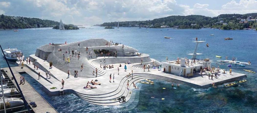 las piscinas más bonitas del mundo, las del puerto de Arendal en Noruega 6