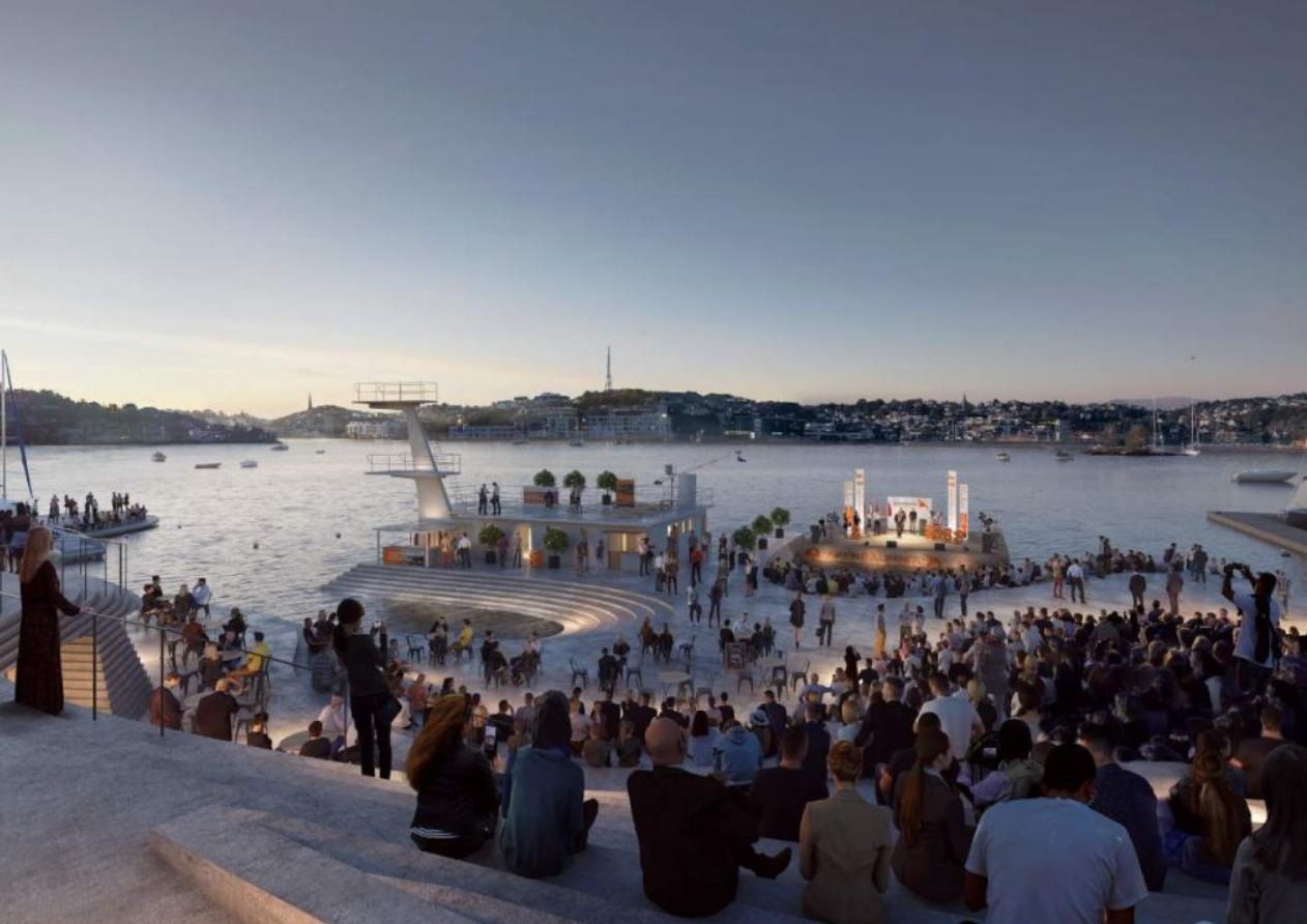 las piscinas más bonitas del mundo, las del puerto de Arendal en Noruega 3