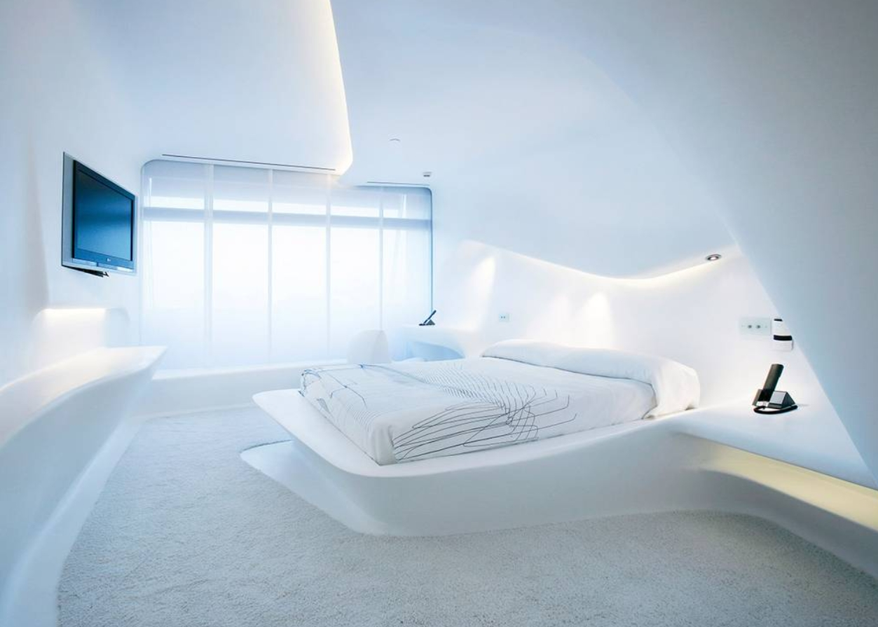 como será la habitación de hotel del futuro 2