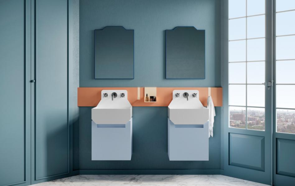 los muebles para baño retro inspirados en Lichtenstein de Marcante-Testa para Ex.t 2