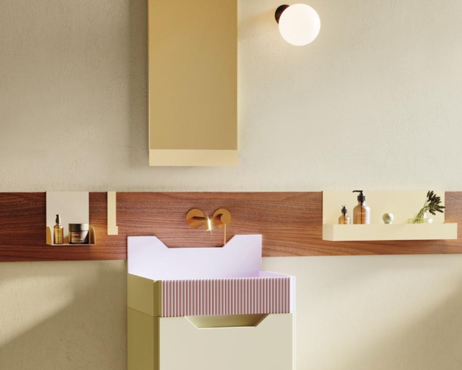 los muebles para baño retro inspirados en Lichtenstein de Marcante-Testa para Ex.t 3