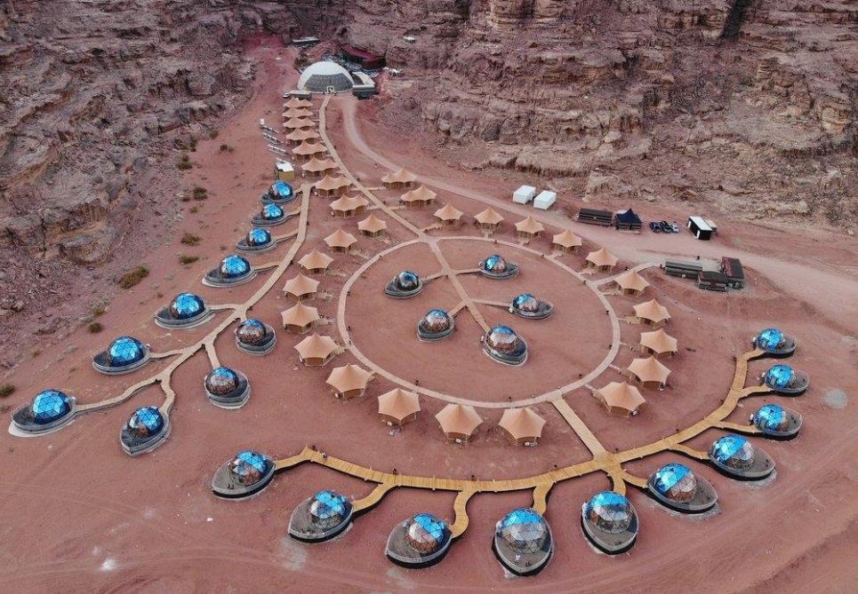 ¿vacaciones en marte? SI, en Jordania, en al Aicha Luxury Camp 21