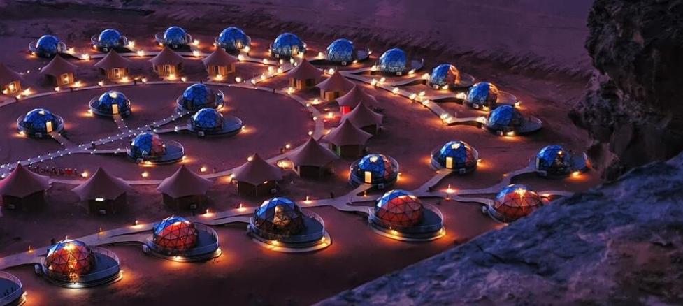 ¿vacaciones en marte? SI, en Jordania, en al Aicha Luxury Camp 2