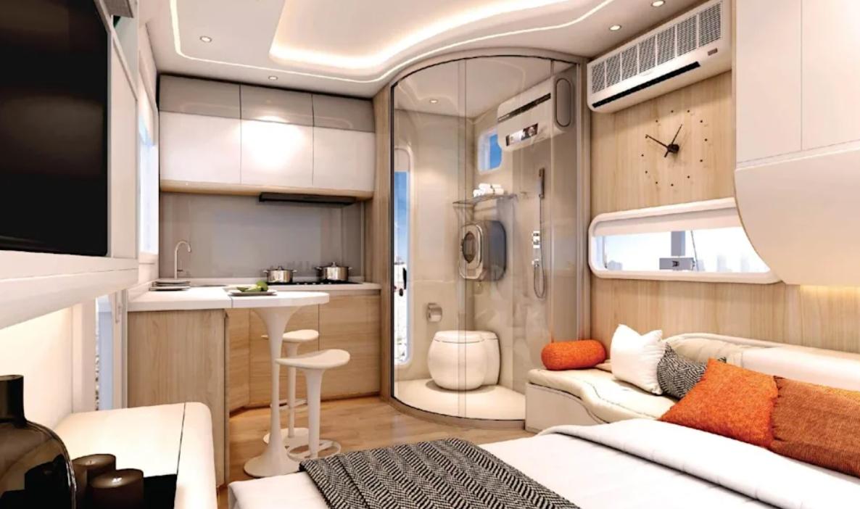 casas pequeñas modernas y bonitas de aspecto futurista 3