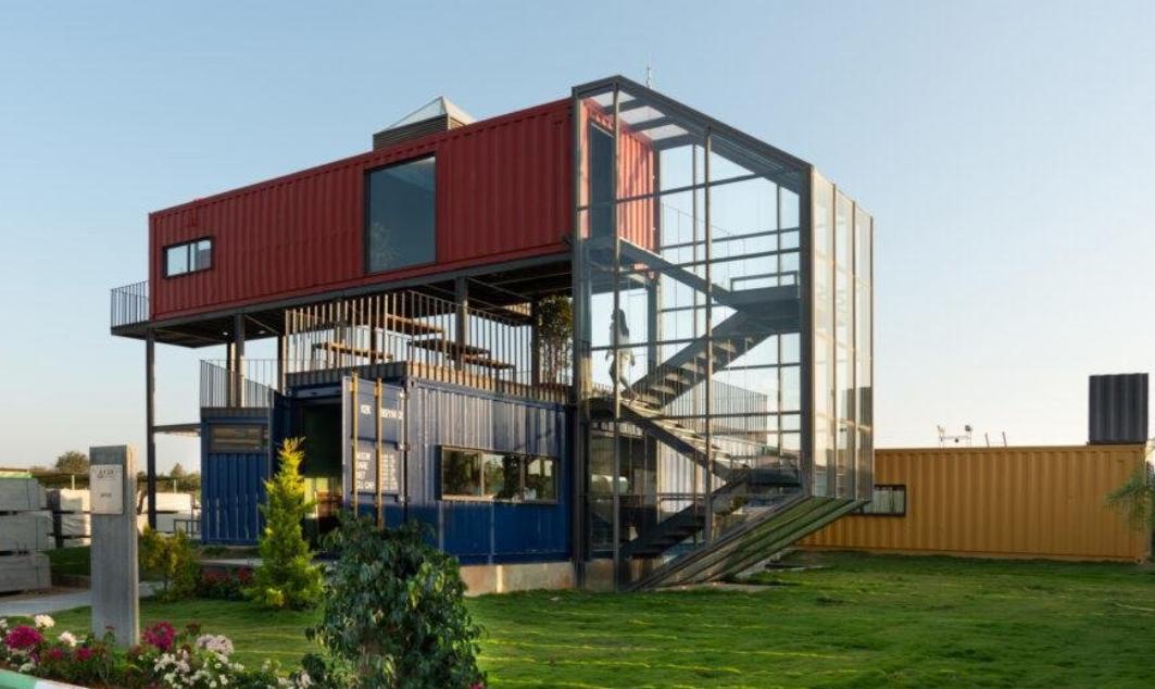 ideas con contenedores marítimos: unas oficinas en contenedores maritimos en India 1