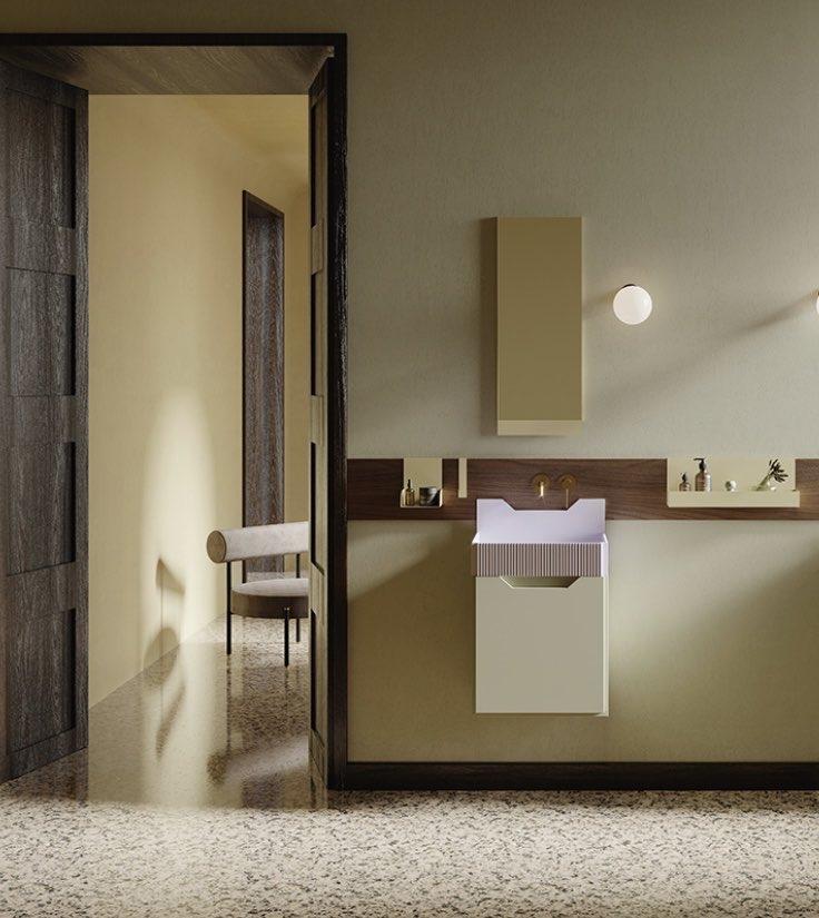 los muebles para baño retro inspirados en Lichtenstein de Marcante-Testa para Ex.t 5