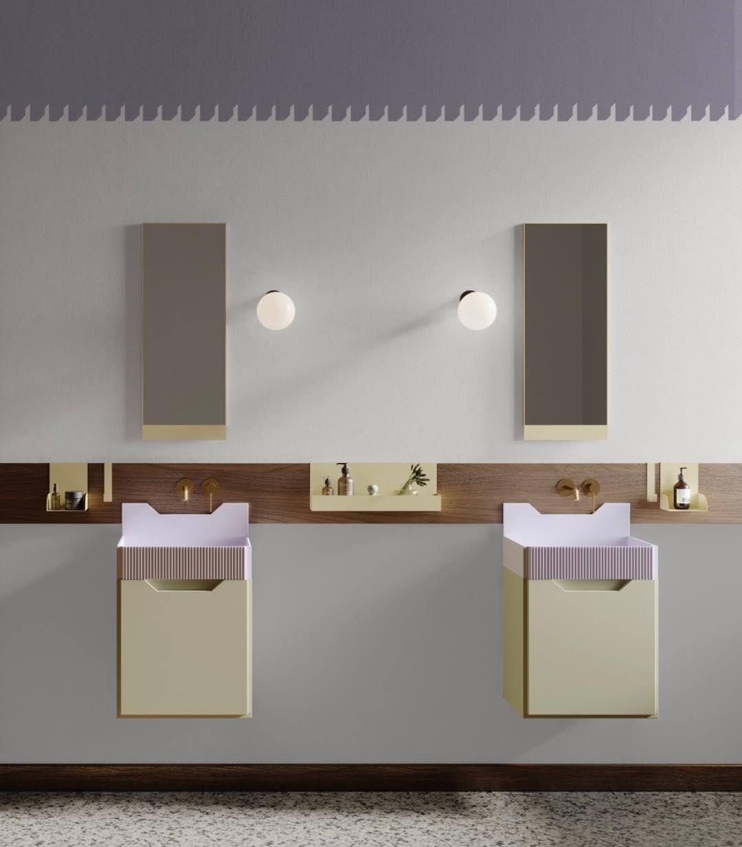 los muebles para baño retro inspirados en Lichtenstein de Marcante-Testa para Ex.t 4
